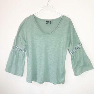 Cruel Denim 3/4 Bell Sleeve Shirt, Size M